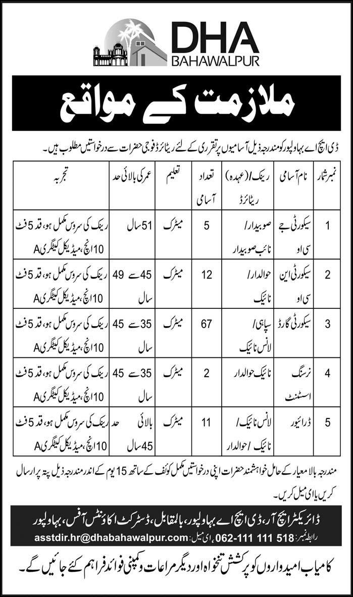 Security JCO, Security NOC, Security Guard Jobs In DHA